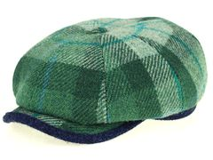 Newsboy zielony Harris Tweed